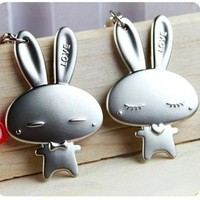 Sweet Kawaii Bunny Rabbit True Love Keychains