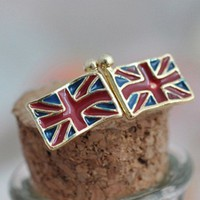British Flag Earrings Studs