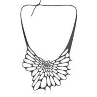 "Nervous System ""Radiolaria"" Black Silicone Necklace"