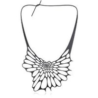 Nervous System &quot;Radiolaria&quot; Black Silicone Necklace