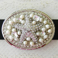 Women's Belt Buckle, Starfish Belt Buckle, Summer Belt Buckle
