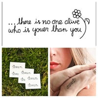 Youer Than You - temporary tattoo (Set of 3)