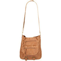 T-SHIRT & JEANS Faux Leather Double Tab Crossbody Bag