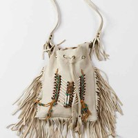 Spell Bone & Tassel Bag in Cream