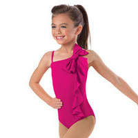 Girls' Vertical Ruffle Leotard; Little Stars