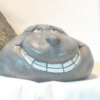 Ceramic Larry Rockhead Garden Decor