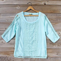 Blue Dusk Blouse, Sweet Bohemian Clothing