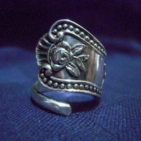 Solid Sterling Silver Spoon Ring Any Size by MarchelloArt on Etsy