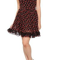 Cherry Cap Sleeve Dress - 772279