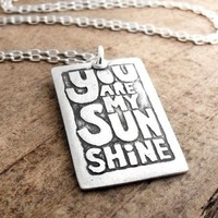 You are my sunshine necklace inspirational by lulubugjewelry
