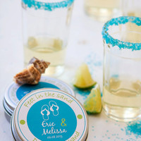 Destination wedding favor - colored margarita salt - 50 personalized party favors
