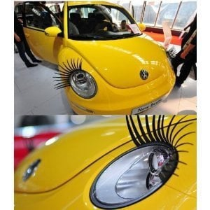 DekCell 3D Car Eyelashes Headlight Lamp Auto Sticker Pair,Car Decoration Accessory
