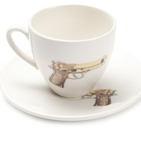 Golden Gun Teacup and Saucer