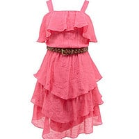 2 Hip by Wrapper 7-16 Gauze Tiered Dress | Dillards.com