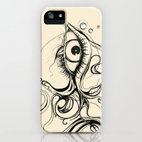 Eye Fish Doodle iPhone Case by Olechka | Society6