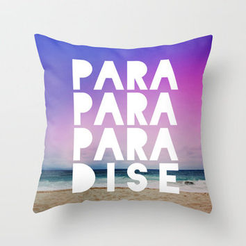PARADISE Throw Pillow by Leah Flores Designs | Society6