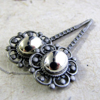 Steampunk Lace Hairpins  Mirror Mirror Vintage by AshleySpatula
