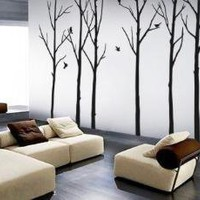 vinyl decals stickers Winter Forest with 6 Complentary by WowWall