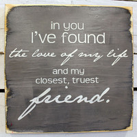Typography Wood Sign-Personalized  In You Wall Decor