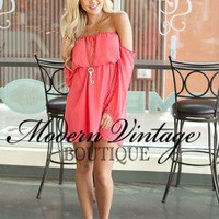 Fabulous Buccaneer CORAL Dress - Modern Vintage Boutique