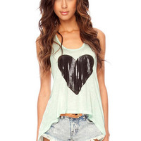 Dark Heart Tank Top $14