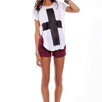 Glitter Cross T-Shirt $36