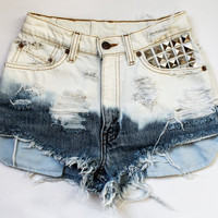 ombre bleach / Levi&#x27;s vintage denim / pyramid by todyefordenim