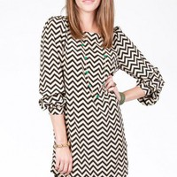 Zig Zag Shift Dress - ShopSosie.com