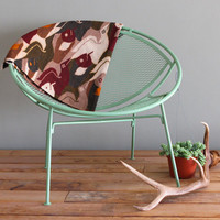 Seafoam Green Hoop Chair Upcycled Vintage Salterini Style