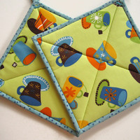Pot Holders - Coffee and Tea