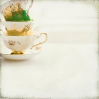 Tea cup photography minimal kitchen white  emerald by Raceytay