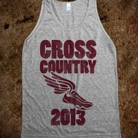 Cross Country 2013 (tank) - Sports - Skreened T-shirts, Organic Shirts, Hoodies, Kids Tees, Baby One-Pieces and Tote Bags