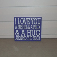 A Bushel and A Peck 12x12 Wood Sign by TheCraftyGeek86 on Etsy