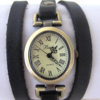 Handmade Oval Bracelet Wrap Bronze Watch - 2013 New Orlogin Style Design FREE SHIPPING