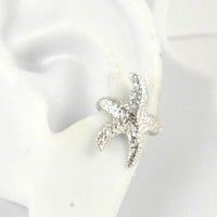 Sterling Silver Starfish Ear Cuff Left Earring: Sandra Callistra: Jewelry