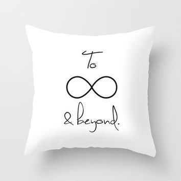 To Infinity and Beyond White Throw Pillow by RexLambo | Society6