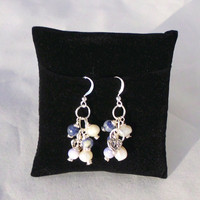 "Cluster Dangle Earrings, Silver Plated ""Faebian"""