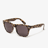 F8486 Leopard Print Wayfarer Sunglasses | FOREVER 21 - 1049058486