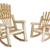 BASEBALL BAT ROCKERS | Wooden Rocking Chair