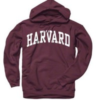 Harvard Crimson Maroon Arch Hooded Sweatshirt: Sports &amp; Outdoors