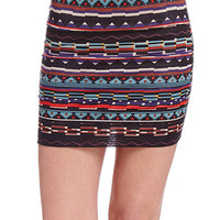 Tribal Bodycon Skirt