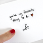 Anniversary Card Boyfriend Card You&#x27;re My Favorite by JulieAnnArt