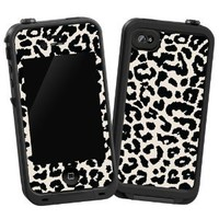 Black and White Leopard &amp;quot;Protective Decal Skin&amp;quot; for LifeProof 4/4S Case: Cell Phones &amp; Accessories