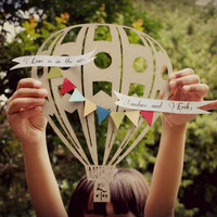 Hot air balloon wedding custom gift idea