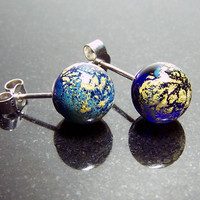 Little Tiny Cloudy World Ear Studs SRA - Worlds of Islands