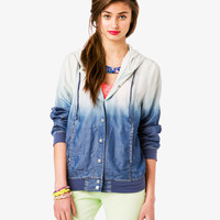 Hooded Ombré Chambray Jacket