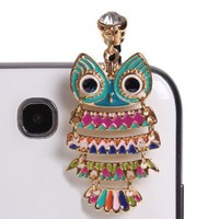 Amazon.com: Wisedeal Colorful 3.5mm Night Owl Pattern Cellphone Charms Anti-Dust Dustproof Earphone Audio Headphone Jack Plug Stopper for iPhone 4 4S Samsung Galaxy S2 S3 Note I9220 HTC Sony Nokia Motorola LG Lenovo: Cell Phones & Accessories