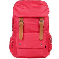 RED Soft Nylon Backpack Laptop School Bag!Great Quality,Waterproof and Silky Feeling Materials!: Everything Else