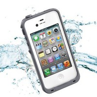 Amazon.com: Leang Waterproof Shockproof and Dirtproof Case for iPhone 4 4S Life Dirt Proof Case - White with Gray: Cell Phones & Accessories
