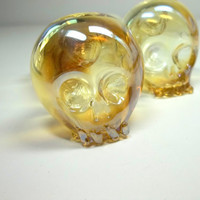 Glass Pipe, Skull Color Changing Glass Pipes, Hand Blown, READY to SHIP, Cgge Team